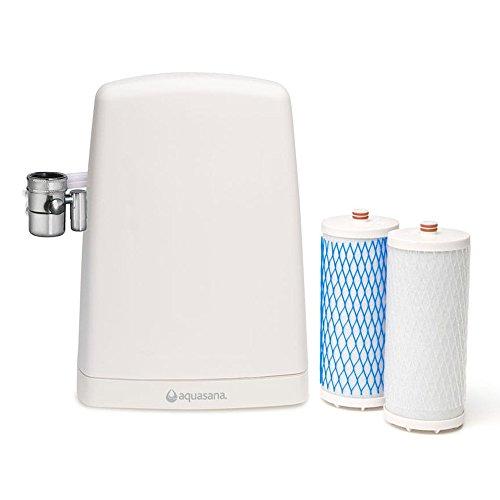 Aquasana Auftisch Wasserfilter AQ4000 - Entfernt bist zu 97 % Chlor & Chloramine -