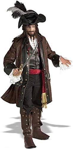 Karneval Neuheit Maske Kostüm-Partei-Ball-Halloween-Kostüm-Jack Sparrow Kapitän Erwachsene
