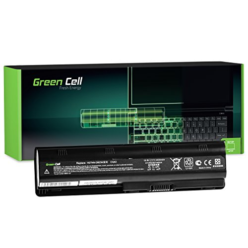Green Cell Standard Serie MU06 Laptop Akku für HP 250 255 2000 635 650 655 Pavilion G4 G6 G62 G7 Compaq Presario CQ56 CQ62 (6 Zellen 4400mAh 10.8V Schwarz)