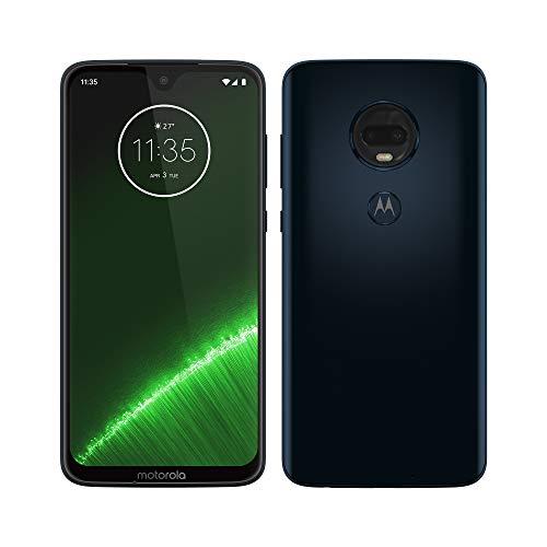 Motorola Moto G7 Plus - Smartphone Android 9 (pantalla 6.2'' FHD+ Max Vision, cámara trasera 16MP con estabilizador, cámara selfie 12MP, 4GB RAM, 64 GB, Dual SIM), color azul índigo [Versión española]