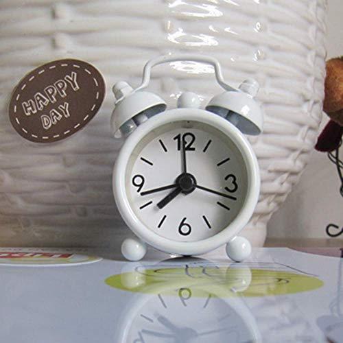 SparY Escritorio Reloj Despertador, Clásico sin Tictac Retro Individual Campana Portátil Mini Dibujos...