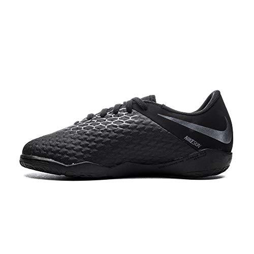 Nike Unisex-Kinder Hypervenom Phantom III Academy Indoor Fußballschuhe, Schwarz (schwarz schwarz), 36 EU