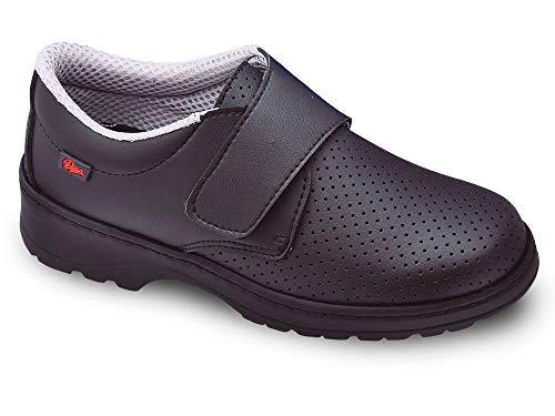 Milan-SCL picado Color Negro Talla 38, Zapato de Trabajo Unisex Certificado CE EN ISO 20347 Marca DIAN...