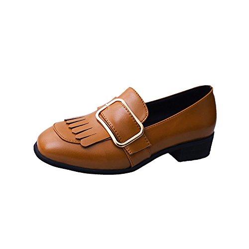 Stivali da equitazione donna,yesmile donne tempo libero stile inglese nappa scarpe mocassini scarpe casual scarpe col tacco