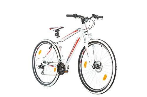 BIKE SPORT LIVE ACTIVE 29 Zoll Bikesport Attack Herren Fahrrad MTB Mountainbike Hardtail Shimano 21 Gang (Weiß Matt Blau Rot, L)