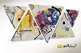 Giallobus - Cuadro Triangular Multipanel Kandinsky - Marco Abstracto...
