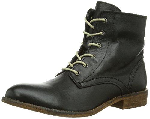 Mustang Schnür-Booty, Boots femme Noir (9 Schwarz)