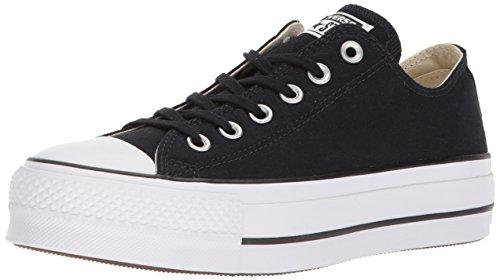 Converse Damen Ctas Lift OX Black/Garnet/White Sneaker, Schwarz (Black/Garnet/White 001), 35 EU Schwarz Chuck Taylor