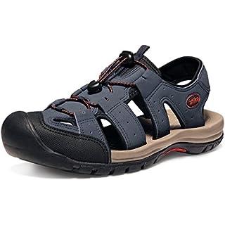 ATIKA AT-M108-NVY_Men 9 D(M) Men's Sports Sandals Trail Outdoor Water Shoes 3Layer Toecap M108