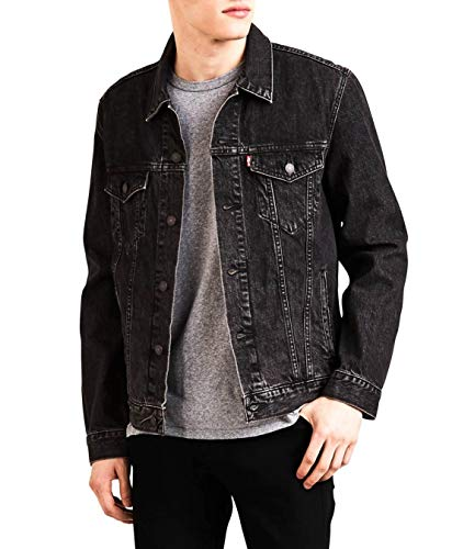 Levi's the trucker jacket giacca in jeans, nero (fegin 0305), xxx-large uomo