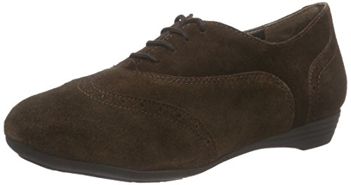 Scholl MAYMA, Chaussures Oxford femmes - Marron - Marron, Taille 38 EU