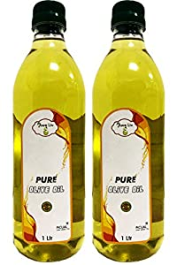AweLiv Pure Olive Oil ((Spanish Oil)) - 1 LTR ((Pack of 2))
