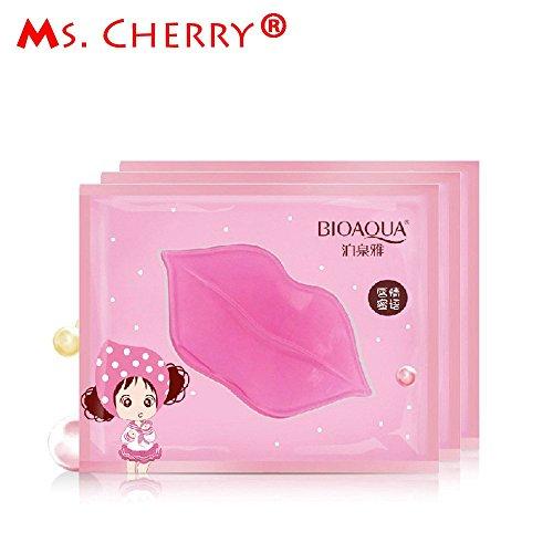 Generic 3 pcs/lot Lip Plumper Crystal Collagen Lip Mask wet Pads Moisture Essence Anti Ageing Wrinkle Patch Lip Enhancer for Lady PF009