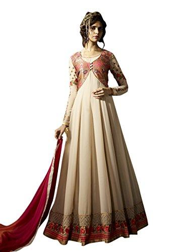 Indisch Salwar Kameez Frau Nicht abgesteppt Anarkali kleid partywear Nicht Gewunden Nur Material Mirchi Fashion (Krepp Kameez Salwar)