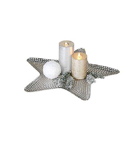 CASABLANCA Coque étoile nuvelo Argent D en aluminium 45 cm Lot de 2 nickelé avec surface Truk. martelé