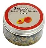 SHIAZO - Pierre à Chicha à Vapeur pour Foyers, Goût Pêche (Sans Tabac, Sans Nicotine, Saveur Intense)
