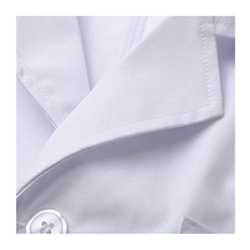 Kurzarm lange abschnitt weiß kittel ärzte krankenschwestern bekleidung arbeitskleidung arbeit (damen, M) - 2