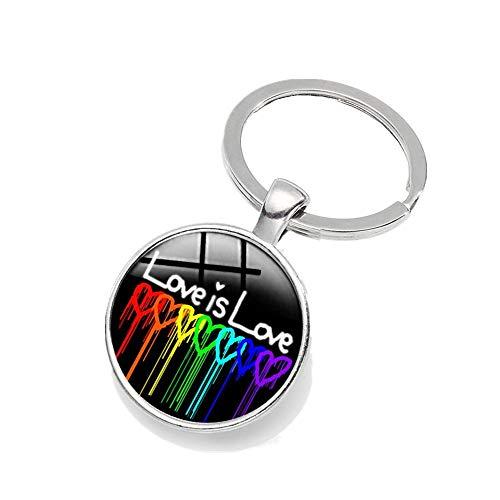 PoiseGlow Pop Regenbogen Autos Splitter Respektieren Sie das Zubehör Stolz Glas Schlüsselanhänger für Frauen und Männer LGBT unterstützen Gemeinschaft Dekoration Geschenke Homosexuell Lesben