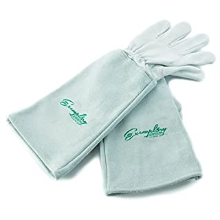 Rose Pruning Gloves for Men and Women. Thorn Proof Goatskin Leather Gardening Gloves with Long Cowhide Gauntlet to Protect Your Arms Until the Elbow (Extra Large)