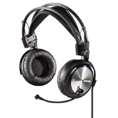 Hama HS-702 PC-Headset (111dB, 3,5mm Klinkenstecker) schwarz