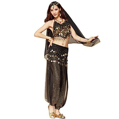 Damen Kostüm Nights Arabian - Bauchtanz-Kostüm-Set für Frauen