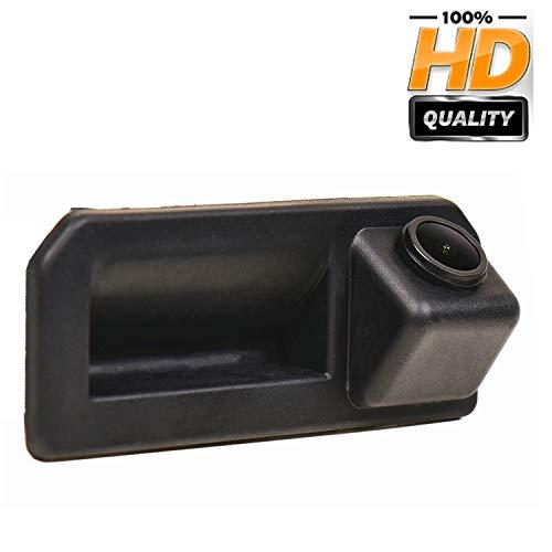 HD CCD Caméra de Recul Voiture en Couleur Kit Caméra vue arrière de voiture IP68 Vision Nocturne pour VW Polo/Vento/Bora/Jetta/Sagitar/Rapid/Audi Q2/Audi A5/Cayenne/Audi Q5L/KODIAQ、Skoda KAROQ