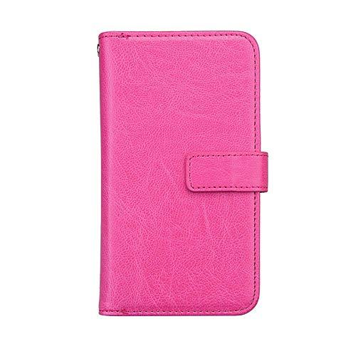 Bear Village® Huawei Nova 2 Hülle, Flip Leder Schutzhülle mit 9 Kartenfach und Magnetverschluss, Brieftasche Handyhülle für Huawei Nova 2, Rose Rot -