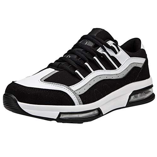 CUTUDE Herren Laufschuhe Leichte Gym Sneaker Sportschuhe Turnschuhe Freizeitschuhe Atmungsaktiv Schuhe für Männer (Schwarz, 40 EU)