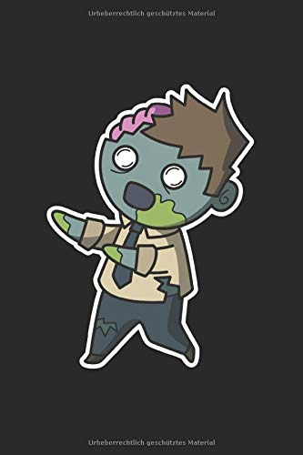 Notizbuch: Halloween Zombie Notebook A5 liniert I Trick or Treat Geschenk I Grusel Tagebuch oder Journal