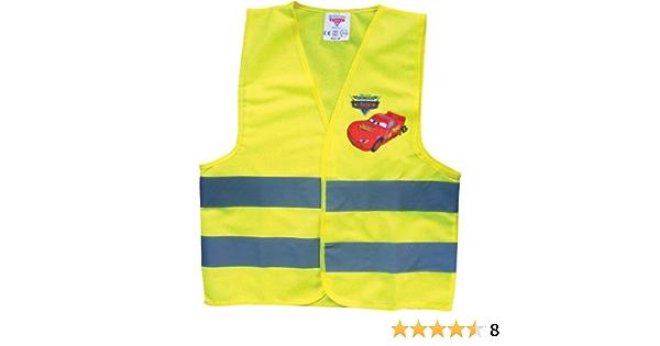 Disney Cars 25935 Warnweste Für Kinder Gelbe Sicherheitsweste Mit Reflektierenden Streifen Mit Lightning Mcqueen Größe Small Für Kids Bis 6 Jahre Baby