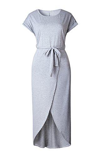 Yieune - Abito - Sera  - Maniche corte  - donna Grau