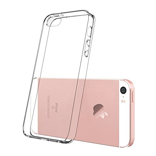 iPhone 5C Soft Silikon Case, Conie Mobile Klare Hülle, Crystal Clear Premium TPU Rückschale in Transparent Transparent