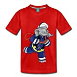Spreadshirt Benjamin Blümchen Als Feuerwehrmann Kinder Premium T-Shirt, 98/104 (2 Jahre), Rot