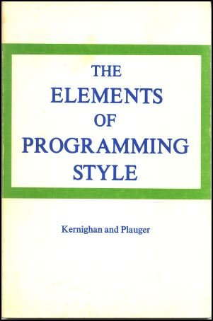The Elements of Programming Style.