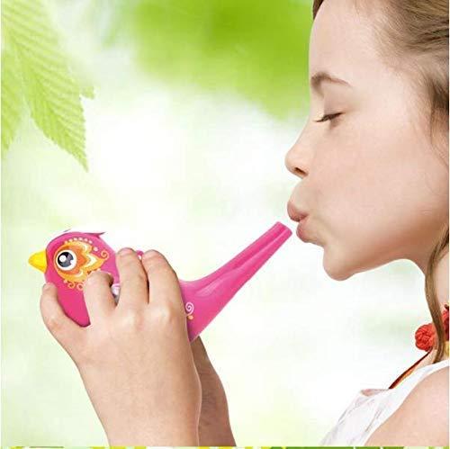 VPlus 2 PCS Scherzt Spielzeug-Musikinstrument-Baby gemalte Wasservogel-Bad-Spielwaren Kreative Simulations-Vogelanrufe addieren Wasser-Pfeife-Kind-Schwimmen-Spielzeug-Farbe gelegentlich