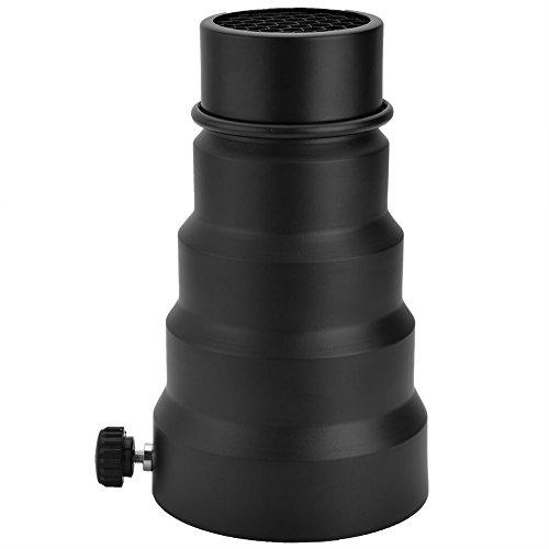 VBESTLIFE Kamera Konische Snoot Grid Licht strahlröhrenblitz, Tragbare 3 Größen Lichtstrahlröhrenblitzqualität Fotoausrüstung für Universal Mount Studio Strobe Flash(S) - Grid Snoot