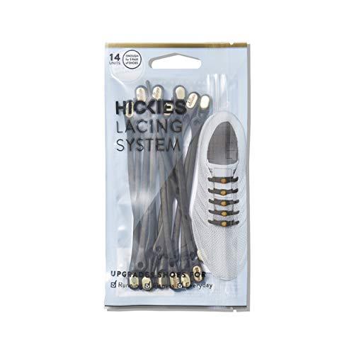 HICKIES 2.0 Performance Lacci elastici, misura unica, non si allacciano - Nero Oro (14 lacci, adatti ad ogni scarpa)