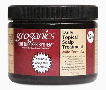 Kopfhaut Klimaanlage Behandlung (Groganics Daily Topical Scalp Treatment Mild Formula)