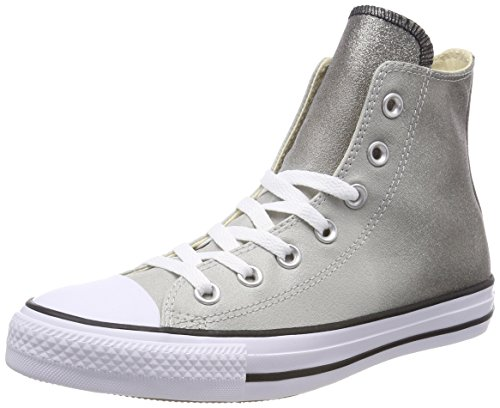 Converse Chuck Taylor Ctas Hi Synthetic, Scarpe da Fitness Unisex-Adulto, Grigio (Ash Grey/Black/White 095), 42 EU