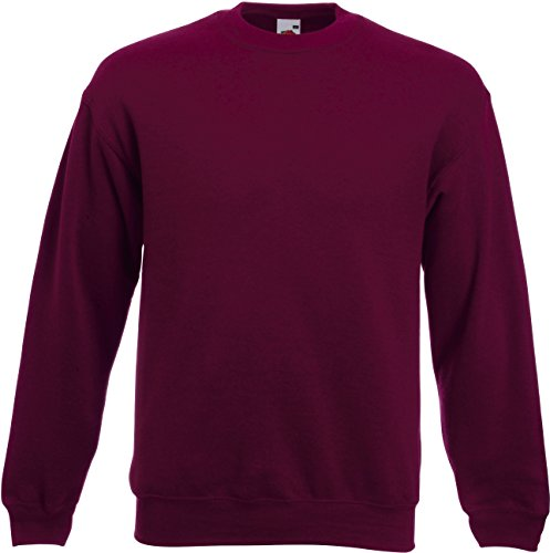 Set-In Sweatshirt XL,Burgundy