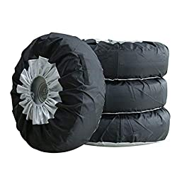 1/2/4pcs Tyre Bags, Car Auto Tire Cover Storage Bag Wheel Tyre Protector Protection 65cm Durable Oxford Fits for 13-19 inch Tire(4pcs)