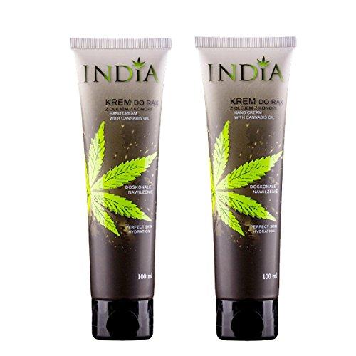 Hand und Neurodermitis Creme im Doppelpack mit Cannabis Öl bei trockener Haut in Premiumqualität