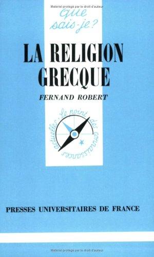 La religion grecque par Fernand Robert, Que sais-je ?