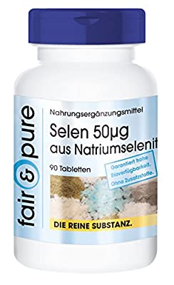Selenium 50mcg from Sodium Selenite - In Pure Form - No Additives or Excipients - 90 Tablets by fair & pure