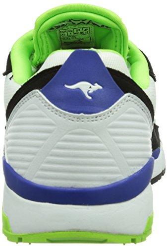 Kangaroos Runaway Roos 001, Baskets mode homme Blanc (White/Black 005)