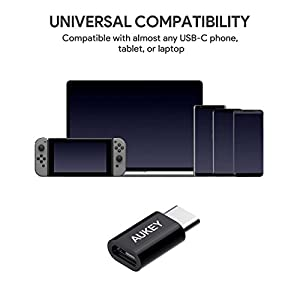 AUKEY-USB-C-Adapter-auf-Micro-USB-3-Stcke-mit-OTG-USB-Type-C-Konverter-56K-Widerstand-fr-Samsung-Galaxy-S8-S8-OnePlus-2-3-HUAWEI-P9-MacBook-Pro-2016-usw-Lebenslange-Bedienungs-Garantie