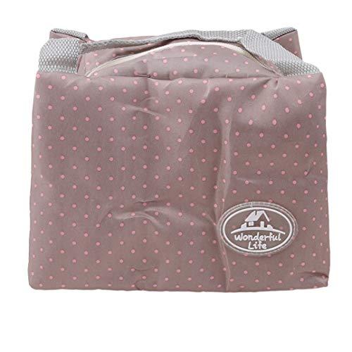 JOOFFF Tragbare Praktische Thermische Isolierte Tote Picknick Mittagessen Kühltasche Kühler Box Handtasche Beutel, Grau