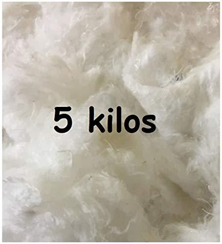 Ouate 5 Kilos pour Rembourrage, Carton de 5 kg, Lavable jusqu'à 30°C - Neuf Made in France