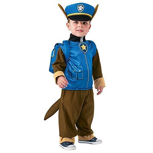 en Official Paw Patrol Cartoon Tier Buch Tag Woche Verkleidung Kleid Kostüm Outfit - Blau (Chase), Jungen, 86-92 (Chase Paw Patrol-kostüm)