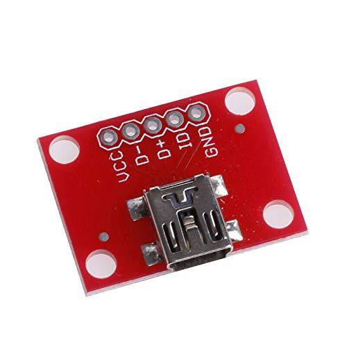TOOGOO Mini USB Adapter Platte Breakout Board für USB Mini-B Erweiterungs Modul Breakout-adapter